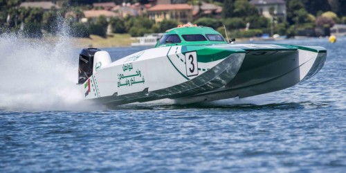 UIM XCAT Dubai Police is in pole position again in Stresa