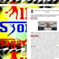 Tuttoallsportmagazine.blogspot.it: Ranieri (all. Olimpus) a Cronacadiretta.it (29 settembre 2016)