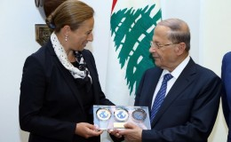 CMAS, the President of the Lebanese Republic received Anna Arzhanova in Beirut